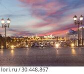 Купить «Kremlin (at night), Moscow, Russia--the most popular view of Moscow», фото № 30448867, снято 17 августа 2018 г. (c) Владимир Журавлев / Фотобанк Лори