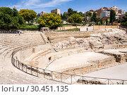Купить «View of Roman amphitheater in Tarragona, Spain», фото № 30451135, снято 29 июня 2013 г. (c) Papoyan Irina / Фотобанк Лори