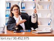 Купить «Middle-aged female doctor working in courthouse», фото № 30452975, снято 4 декабря 2018 г. (c) Elnur / Фотобанк Лори