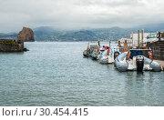 Купить «Inflatable motor boats in Madalena», фото № 30454415, снято 3 мая 2012 г. (c) Юлия Бабкина / Фотобанк Лори