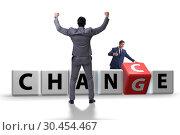 Купить «Businessman in change and chance concept», фото № 30454467, снято 13 декабря 2019 г. (c) Elnur / Фотобанк Лори