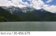 Купить «Beautiful Mountains surrounding Ritsa Lake in an Abkhazia», видеоролик № 30456675, снято 28 февраля 2019 г. (c) Володина Ольга / Фотобанк Лори