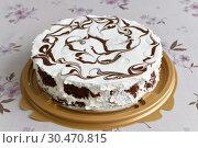 Купить «The Low-fat yoghurt cake with a chocolate», фото № 30470815, снято 8 марта 2019 г. (c) Володина Ольга / Фотобанк Лори
