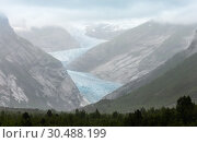 Купить «Nigardsbreen Glacier from far, Norway», фото № 30488199, снято 17 июля 2013 г. (c) Юрий Брыкайло / Фотобанк Лори
