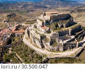 Купить «Aerial view of Castillo de Morella», фото № 30500047, снято 10 марта 2019 г. (c) Яков Филимонов / Фотобанк Лори