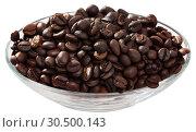 Купить «Coffee beans in a glass cup», фото № 30500143, снято 19 апреля 2019 г. (c) Яков Филимонов / Фотобанк Лори