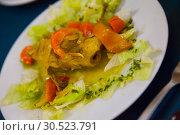 Купить «Appetizing marinated quail», фото № 30523791, снято 20 июня 2019 г. (c) Яков Филимонов / Фотобанк Лори