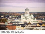 Купить «Aerial view on Helsinki, Finland», фото № 30526259, снято 10 октября 2015 г. (c) Sergey Borisov / Фотобанк Лори