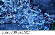 Plastic bottle preform factory. Стоковое видео, видеограф Mark Agnor / Фотобанк Лори
