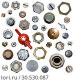 Screws and nuts. Стоковое фото, фотограф Tryapitsyn Sergiy / Фотобанк Лори