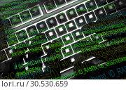 Купить «Hacker at work», фото № 30530659, снято 13 мая 2010 г. (c) Tryapitsyn Sergiy / Фотобанк Лори