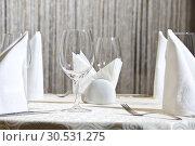 Restaurant table. Стоковое фото, фотограф Tryapitsyn Sergiy / Фотобанк Лори