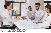 Купить «recruiters having interview with employee», видеоролик № 30532051, снято 29 марта 2019 г. (c) Syda Productions / Фотобанк Лори