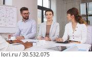 Купить «recruiters having interview with employee», видеоролик № 30532075, снято 29 марта 2019 г. (c) Syda Productions / Фотобанк Лори