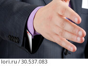 Купить «Handshake with ace up in sleeve», фото № 30537083, снято 30 апреля 2011 г. (c) Tryapitsyn Sergiy / Фотобанк Лори
