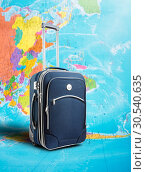 Купить «Suitcase on the map», фото № 30540635, снято 3 октября 2013 г. (c) Tryapitsyn Sergiy / Фотобанк Лори