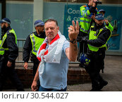 Far Right group EDL (English Defence League) hold march in Central... (2017 год). Редакционное фото, фотограф Wheatley / WENN / age Fotostock / Фотобанк Лори