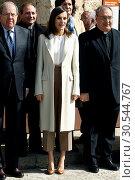 Купить «Queen Letizia attends the opening of Angeli exhibition of sacred art in Lerma, Spain on the 11/04/2019», фото № 30544767, снято 11 апреля 2019 г. (c) age Fotostock / Фотобанк Лори