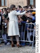 Купить «Queen Letizia attends the opening of Angeli exhibition of sacred art in Lerma, Spain on the 11/04/2019», фото № 30544935, снято 10 апреля 2019 г. (c) age Fotostock / Фотобанк Лори