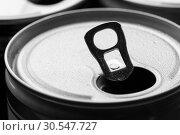Купить «Aluminum can with water drops», фото № 30547727, снято 7 февраля 2014 г. (c) Tryapitsyn Sergiy / Фотобанк Лори