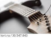 Купить «Electric guitar», фото № 30547843, снято 11 февраля 2014 г. (c) Tryapitsyn Sergiy / Фотобанк Лори