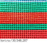 Mattress spring seal with colorful fabric. Стоковое фото, фотограф Tryapitsyn Sergiy / Фотобанк Лори