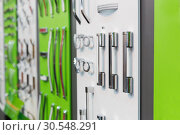 Купить «Big range of metal handles», фото № 30548291, снято 29 мая 2014 г. (c) Tryapitsyn Sergiy / Фотобанк Лори