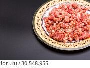 Купить «Mince meat», фото № 30548955, снято 24 июля 2014 г. (c) Tryapitsyn Sergiy / Фотобанк Лори