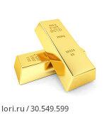 Купить «Two gold bars», фото № 30549599, снято 8 декабря 2019 г. (c) Tryapitsyn Sergiy / Фотобанк Лори