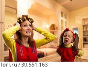 Купить «Angry little girl crying», фото № 30551163, снято 8 марта 2015 г. (c) Tryapitsyn Sergiy / Фотобанк Лори