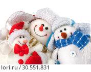 Купить «Christmas snowmen», фото № 30551831, снято 15 ноября 2010 г. (c) Tryapitsyn Sergiy / Фотобанк Лори