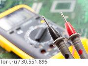 Купить «Multimetr working», фото № 30551895, снято 23 июня 2011 г. (c) Tryapitsyn Sergiy / Фотобанк Лори
