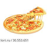 Tasty pizza. Стоковое фото, фотограф Tryapitsyn Sergiy / Фотобанк Лори
