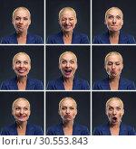Купить «Woman making expressions», фото № 30553843, снято 19 сентября 2015 г. (c) Tryapitsyn Sergiy / Фотобанк Лори