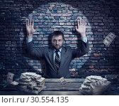 Businessman with money. Стоковое фото, фотограф Tryapitsyn Sergiy / Фотобанк Лори