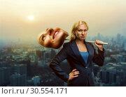 Купить «Serious woman», фото № 30554171, снято 19 сентября 2015 г. (c) Tryapitsyn Sergiy / Фотобанк Лори