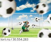 Scared goalkeeper. Стоковое фото, фотограф Tryapitsyn Sergiy / Фотобанк Лори