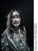 Zombie woman with bloody face. Стоковое фото, фотограф Tryapitsyn Sergiy / Фотобанк Лори