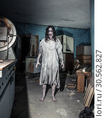 Portrait of the horror zombie woman. Halloween. Стоковое фото, фотограф Tryapitsyn Sergiy / Фотобанк Лори