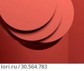 Random shifted discs red installation 3 d. Стоковая иллюстрация, иллюстратор EugeneSergeev / Фотобанк Лори