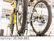 Купить «Car roof rack for bike, bicycle trunk», фото № 30566883, снято 31 мая 2017 г. (c) Tryapitsyn Sergiy / Фотобанк Лори