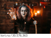 Scary witch hands out, front view. Стоковое фото, фотограф Tryapitsyn Sergiy / Фотобанк Лори