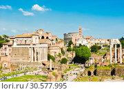 Купить «Римский Форум. Весенний солнечный день. Рим. Италия», фото № 30577995, снято 28 апреля 2018 г. (c) E. O. / Фотобанк Лори