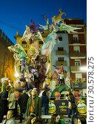 Купить «Comic figures on Falles celebration», фото № 30578275, снято 18 марта 2019 г. (c) Яков Филимонов / Фотобанк Лори