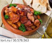 Купить «Braised pork snout», фото № 30578563, снято 1 июня 2020 г. (c) Яков Филимонов / Фотобанк Лори