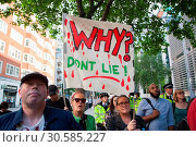 Protest outside the home office in Marsham Street calling for justice... (2017 год). Редакционное фото, фотограф Wheatley / WENN / age Fotostock / Фотобанк Лори