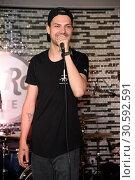 Купить «Jimi Blue showcase to promote his upcoming EP '3LUE' and song 'Schuetteln' at Hard Rock Cafe at Kurfuerstendamm. Featuring: Jimi Blue Ochsenknecht Where...», фото № 30592591, снято 12 июня 2017 г. (c) age Fotostock / Фотобанк Лори