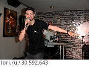 Купить «Jimi Blue showcase to promote his upcoming EP '3LUE' and song 'Schuetteln' at Hard Rock Cafe at Kurfuerstendamm. Featuring: Jimi Blue Ochsenknecht Where...», фото № 30592643, снято 12 июня 2017 г. (c) age Fotostock / Фотобанк Лори