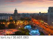 Купить «Placa de Catalonia», фото № 30601083, снято 19 мая 2017 г. (c) Яков Филимонов / Фотобанк Лори