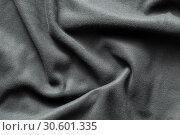 Купить «Texture of gray fleece», фото № 30601335, снято 5 апреля 2019 г. (c) EugeneSergeev / Фотобанк Лори